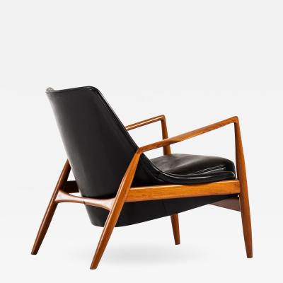 Ib Kofod Larsen Easy Chair Model S len Seal Produced by OPE