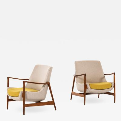 Ib Kofod Larsen Easy Chairs Model 4346 Produced by Fritz Hansen