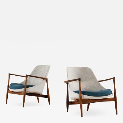 Ib Kofod Larsen Easy Chairs Model U56 Elizabeth Produced by Christensen Larsen