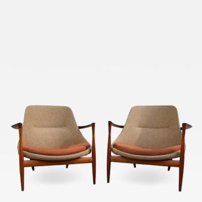 Ib Kofod Larsen Exceptional Pair of Rosewood Kofod Larsen Elizabeth Chairs