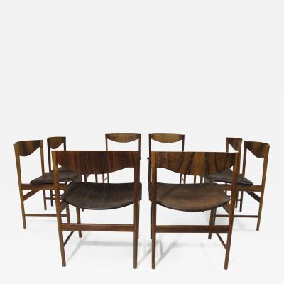 Ib Kofod Larsen I B Kofoed Larsen for Saffle Rosewood Dining Chairs Set of 8