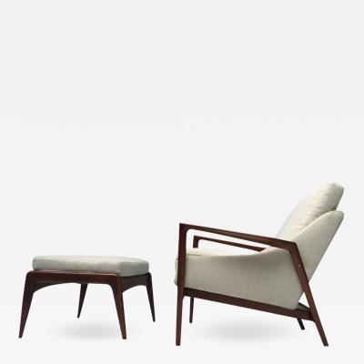 Ib Kofod Larsen Ib Kofod Larsen Lounge Chair and Ottoman