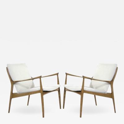 Ib Kofod Larsen Ib Kofod Larsen Lounge Chairs in Linen