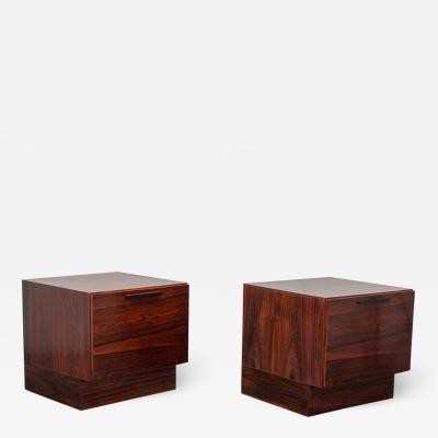 Ib Kofod Larsen Ib Kofod Larsen Rosewood End Tables