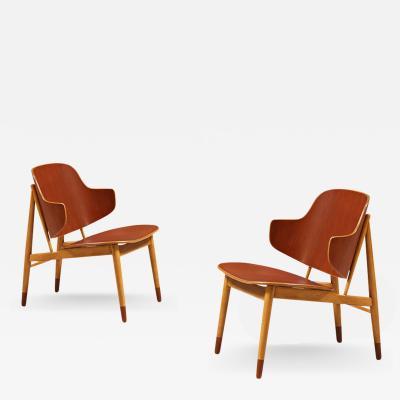Ib Kofod Larsen Ib Kofod Larsen Shell Chairs for Christiansen Larsen