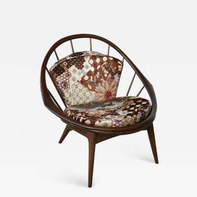 Ib Kofod Larsen Ib Kofod Larsen for Selig Danish Hoop Peacock Chair