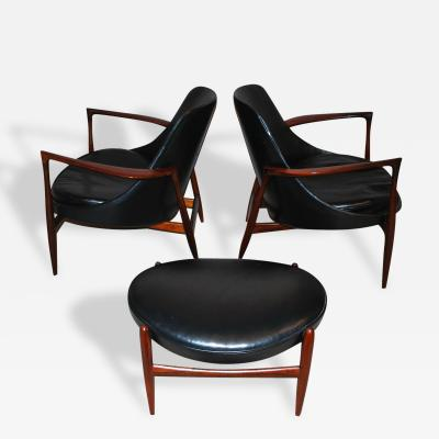 Ib Kofod Larsen Iconic Elizabeth Chairs by Ib Koffod Larsen in Rosewood