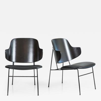 Ib Kofod Larsen Kofod Larsen Black Penguin Chairs