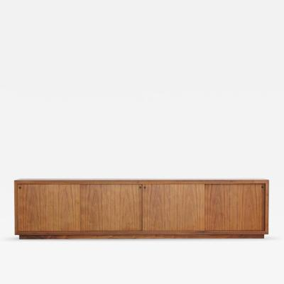 Ib Kofod Larsen Long and Low Custom Made Walnut Sideboard in the Style of Ib Kofod Larsen