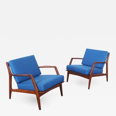 Ib Kofod Larsen Mid Century Lounge Chairs by Ib Kofod Larsen