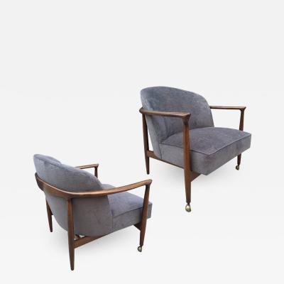Ib Kofod Larsen Pair Ib Kofod Larsen Sculptural Lounge Chairs