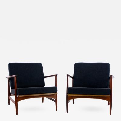 Ib Kofod Larsen Pair of Danish Modern Armchairs Designed by Ib Kofod Larsen