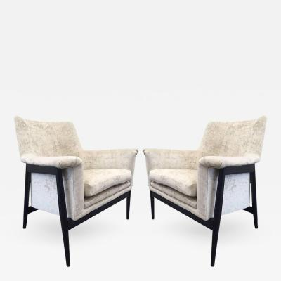 Ib Kofod Larsen Pair of Danish Modern Lounge Chairs Ib Kofod Larsen