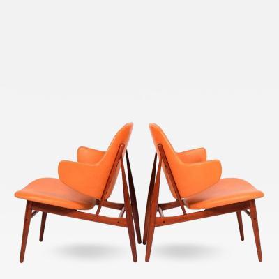 Ib Kofod Larsen Pair of easy Chairs by Ib Kofod Larsen for Christensen Larsen