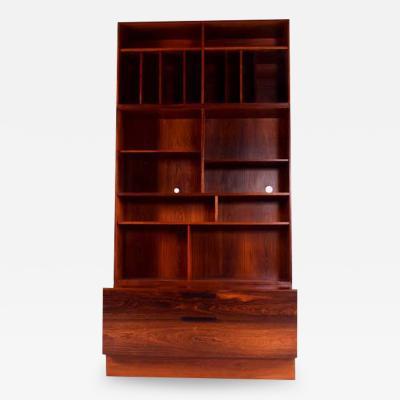 Ib Kofod Larsen Rosewood Bookcase by Ib Kofod Larsen for Faarup M belfabrik