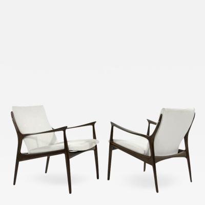 Ib Kofod Larsen Scandinavian Modern Lounge Chairs by Ib Kofod Larsen