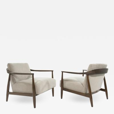 Ib Kofod Larsen Sculptural Danish Modern Lounge Chairs 1950s