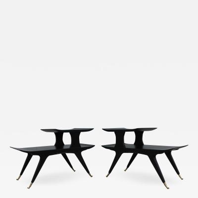 Ico Luisa Parisi Ico Luisa Parisi Style Sculptural Italian End Tables