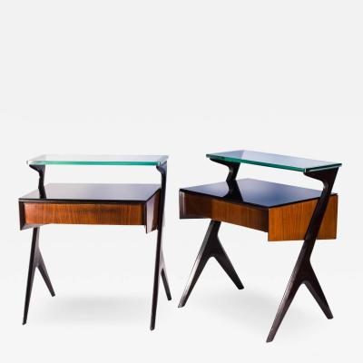Ico Luisa Parisi Pair of Nite stands by Ico Parisi