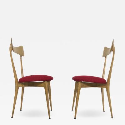 Ico Luisa Parisi Pair of chairs for Ariberto Colombo 1945