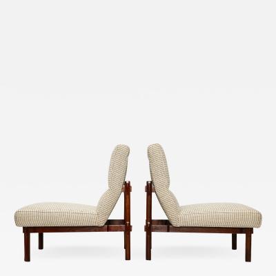 Ico Luisa Parisi Rare Pair of 869 Lounge Chairs by Ico Luisa Parisi
