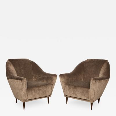 Ico Luisa Parisi Rare Pair of Lounge Chairs