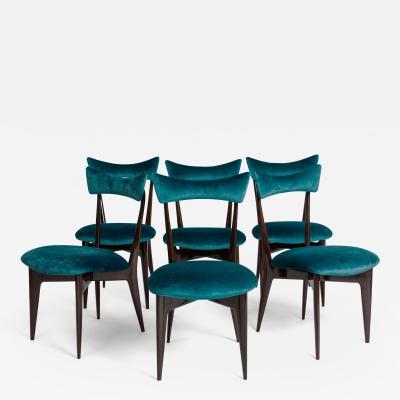 Ico Luisa Parisi Rare Set of Six Dining Chairs by Ico Luisa Parisi