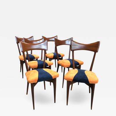 Ico Parisi 1950s Italian Ico Parisi Dining Chairs Set of Six