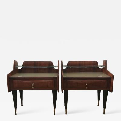 Ico Parisi 1950s Pair of Italian Bedside Tables