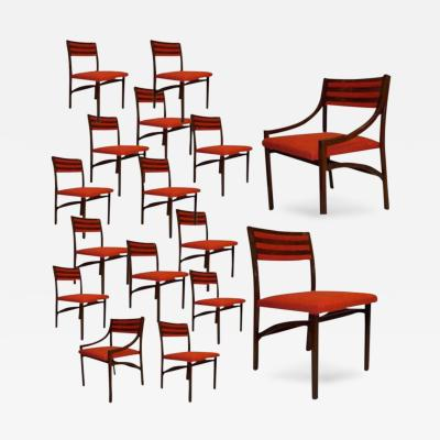 Ico Parisi A Rare Massive Set of Sixteen Dining Chairs by Ico Parisi
