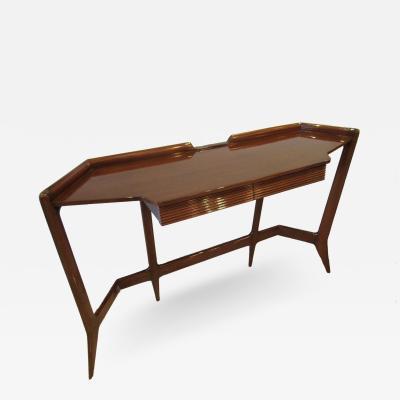 Ico Parisi An Ico Parisi Mahogany Console Table Italy 1950s