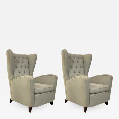 Ico Parisi Couple of armchairs berg re by Ico Parisi