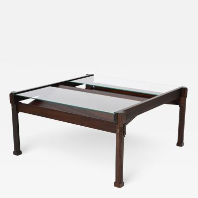 Ico Parisi Dione Rosewood Coffee Table and Magazine Rack by Ico Parisi for Stildomus