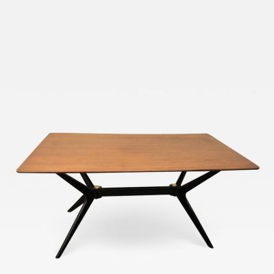 Ico Parisi Exciting Ico Parisi Style Sculpted X Base Dining Table Mid Century Modern