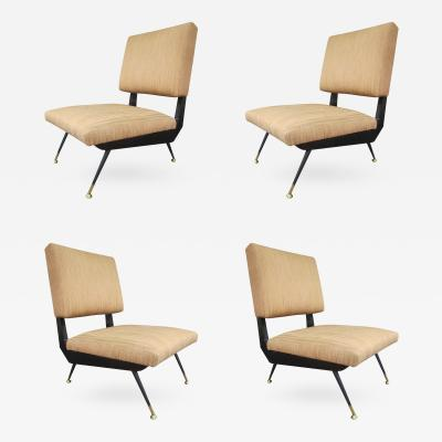 Ico Parisi Four Chairs attributed to Ico Parisi Italy 1960