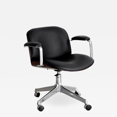 Ico Parisi ICO PARISI OFFICE CHAIR BLACK LEATHER