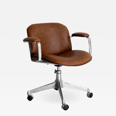Ico Parisi ICO PARISI OFFICE CHAIR BROWN LEATHER