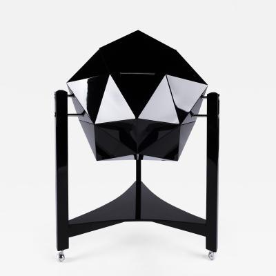 Ico Parisi Ico Parisi Inspired Polyhedron Bar Cabinet