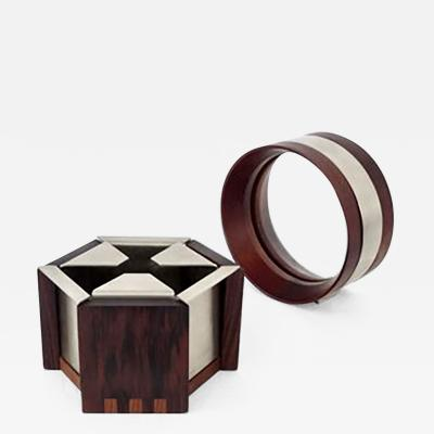 Ico Parisi Ico Parisi Italian Walnut and Rosewood Ashtray and Picture Frame