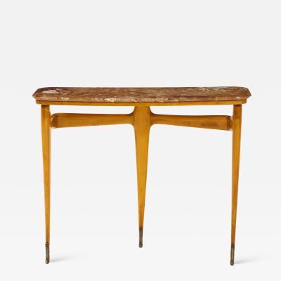Ico Parisi Ico Parisi Maple Wood and Marble Console Table