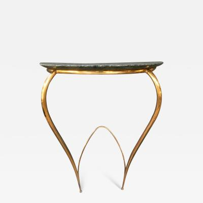 Ico Parisi Ico Parisi Mid Century Console in Brass and Marble Italy