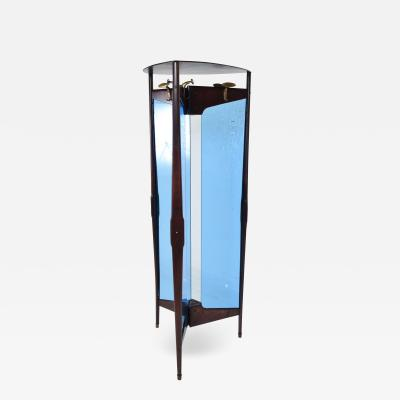 Ico Parisi Ico Parisi Modern Triangle Cool Blue Coat Rack Free Standing Room Divider 1940s
