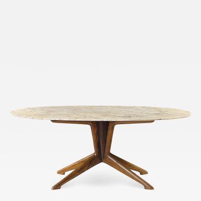 Ico Parisi Ico Parisi Oval Marble Walnut Dining Table