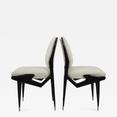 Ico Parisi Ico Parisi Pair of Ebonized Chairs