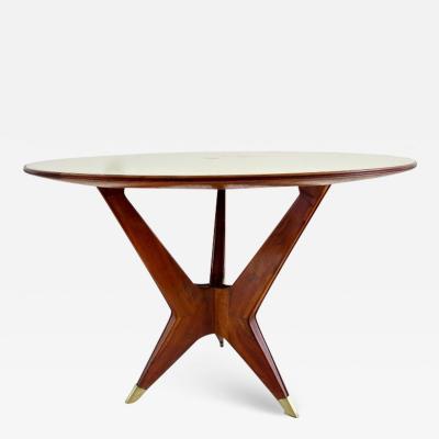 Ico Parisi Ico Parisi Round Walnut Dining Table Three Feet 1950