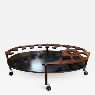 Ico Parisi Ico Parisi Sculptural Open Bar Coffee Table Mod Idra Italy 1960s