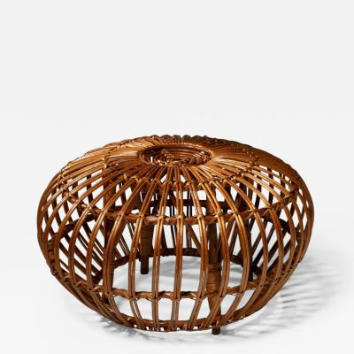 Ico Parisi Italian 60s Wicker Stool