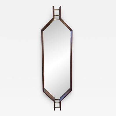 Ico Parisi Italian Carved Wood Wall Mirror by Ico Parisi 1960s