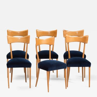 Ico Parisi Italian Dining Chairs in the style of Ico Parisi Set of Six