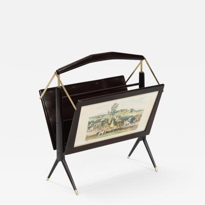 Ico Parisi Italian Magazine Rack in the style of Ico Parisi